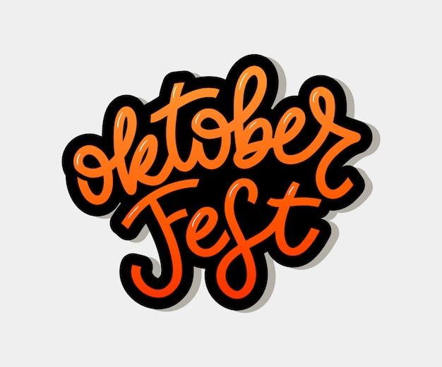 Oktoberfest handgeschriebene schrift