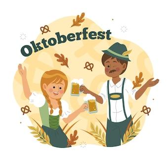 Oktoberfest handgezeichnet