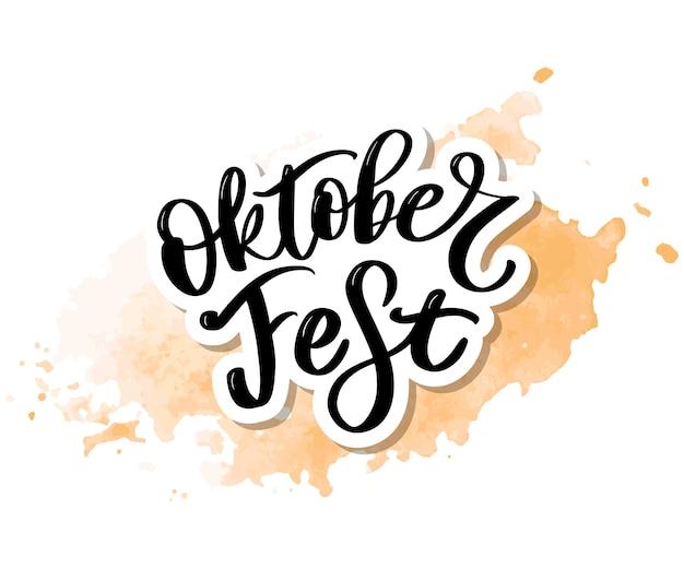 Oktoberfest handschriftliche beschriftung.