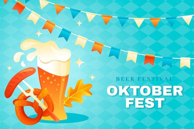Oktoberfest hintergrund mit farbverlauffest