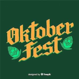Oktoberfest-hintergrund mit typografie