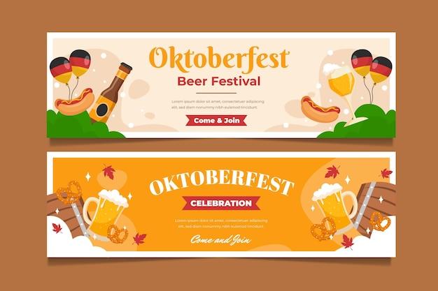 Oktoberfest horizontale banner eingestellt