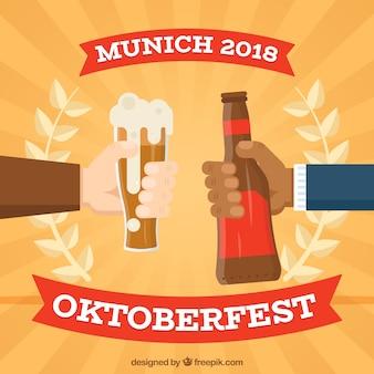Oktoberfest-konzept hintergrund