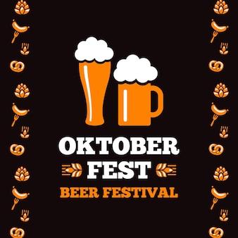 Oktoberfest-konzept im flachen design