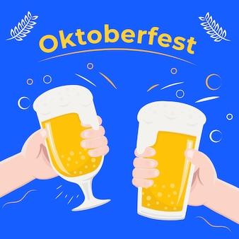 Oktoberfest-konzept in der partei