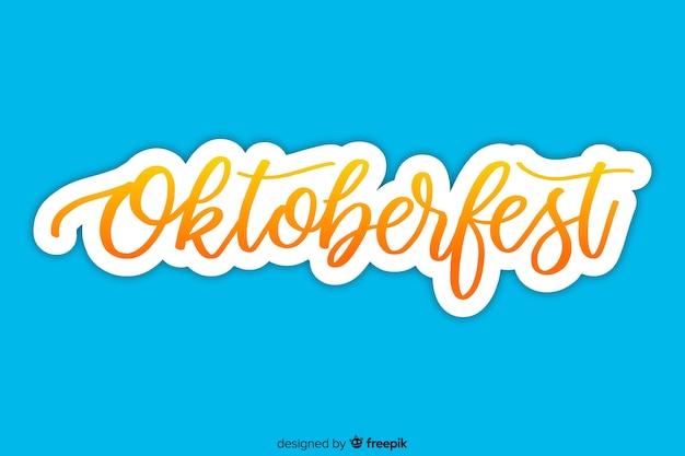 Oktoberfest-konzept mit schriftzug hintergrund