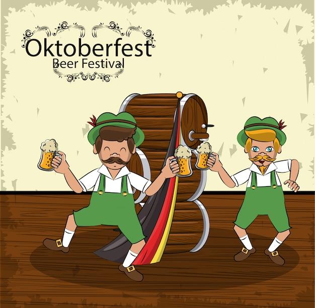 Oktoberfest-konzept