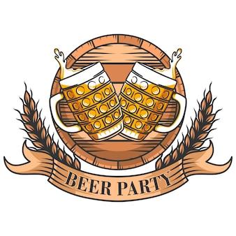 Oktoberfest-konzepthintergrund mit bierkrügen