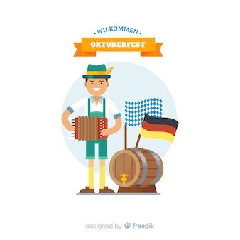 Oktoberfest-Konzepthintergrund mit klassischem Tirol