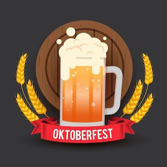 Oktoberfest mit einem halben liter bier