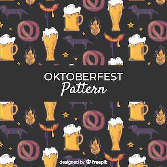 Oktoberfest-Muster mit traditionellen Elementen