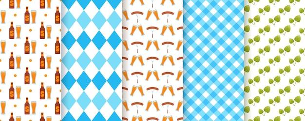 Oktoberfest-nahtloses muster. oktoberfest-texturen. vektor-illustration.