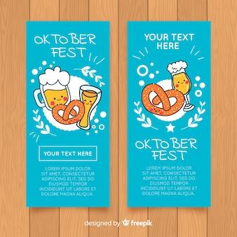 Oktoberfest party banner vorlagensatz