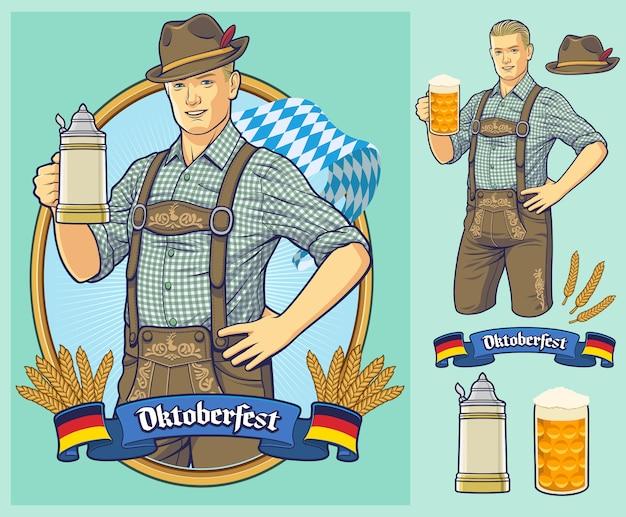 Oktoberfest-plakat, einladung.