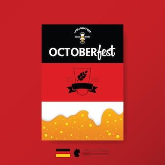 Oktoberfest-plakatschablone desigm