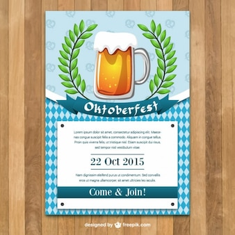 Oktoberfest-plakatschablone