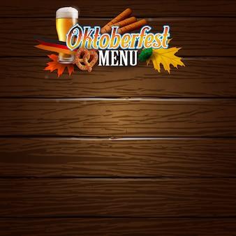 Oktoberfest poster oder menü vorlage clipart