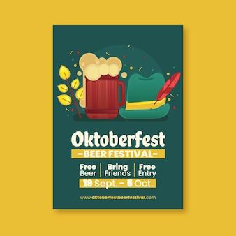 Oktoberfest poster vorlage stil
