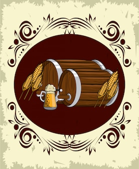 Oktoberfest runden emblem