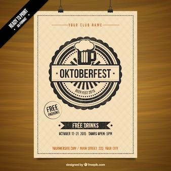 Oktoberfest schablonenplakat