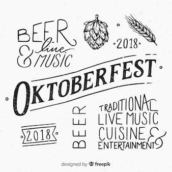 Oktoberfest schriftzug hintergrund