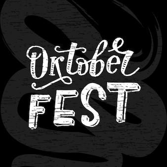 Oktoberfest schriftzug kalligraphie pinsel