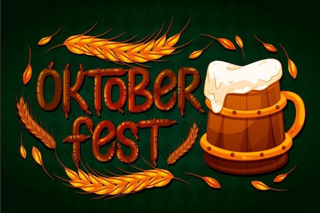 Oktoberfest schriftzug konzept