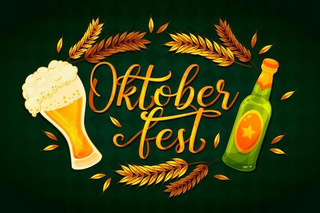 Oktoberfest schriftzug mit pint