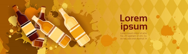 Oktoberfest traditional beer festival banner feiertagsfahne