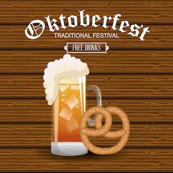 Oktoberfest traditionelles essen isoliert