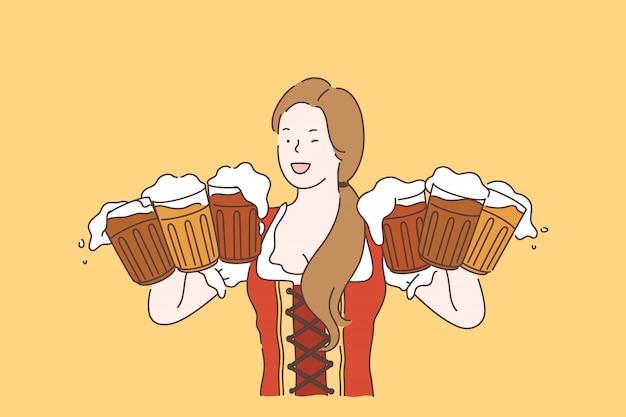 Oktoberfest-vektor-konzept.