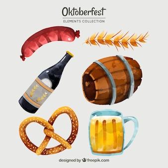 Oktoberfest, verschiedene handbemalte elemente