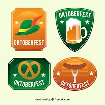 Oktoberfest, vier abzeichen