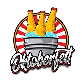 Oktoberfest vintage abzeichen vorlage