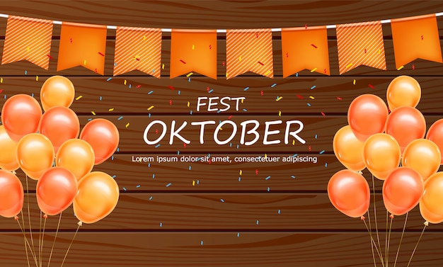 Oktoberfest willkommensplakat