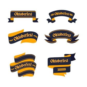 Oktoberfestbänder im flachen design