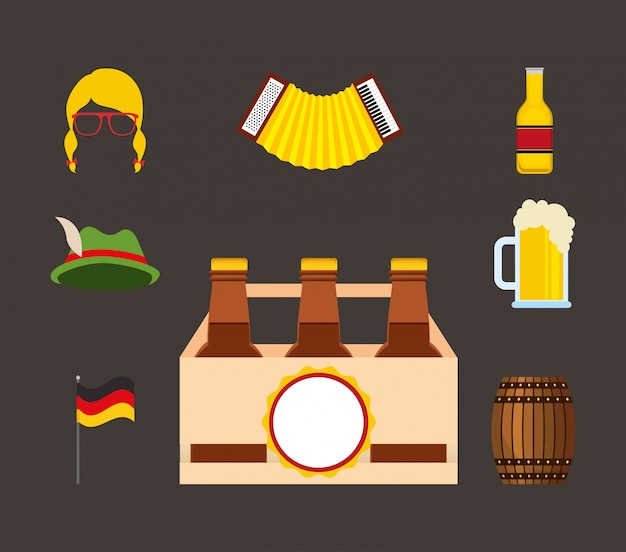 Oktoberfestfeier mit festgelegten ikonen