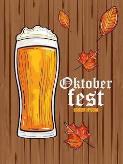 Oktoberfestfest mit glasbier