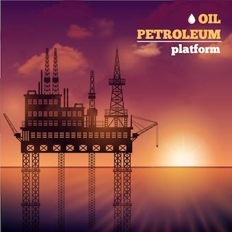 Öl Petroleum Plattform