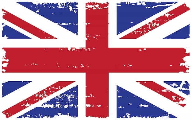 Old grunge uk flagge