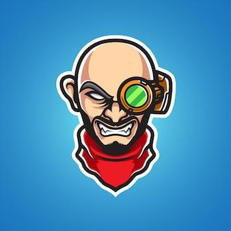 Old man professor mascot logo