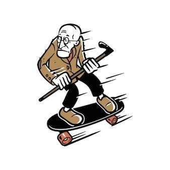 Old man skate