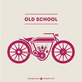Old-school-motorrad kostenlosen vektor