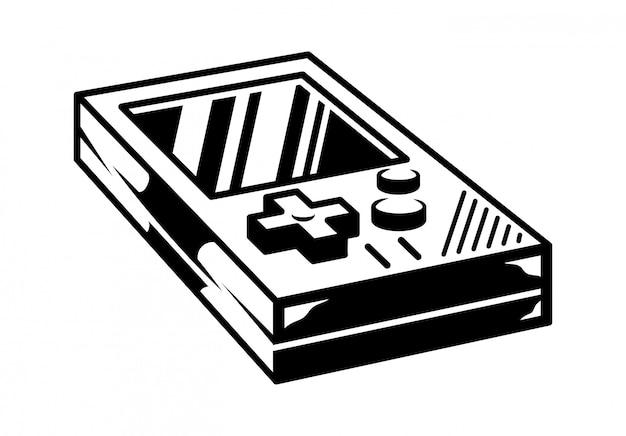 Old school vintage gamepad für retro-videospiel-spielhalle spielen.