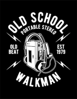 Old school walkman poster