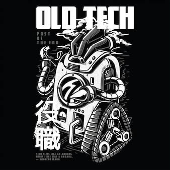 Old tech schwarzweiss