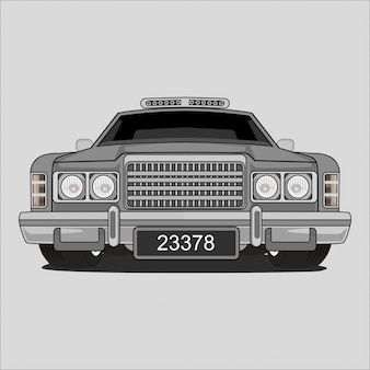 Oldtimer-illustration