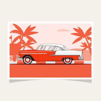 Oldtimer-konzeptions-flacher illustrations-vektor