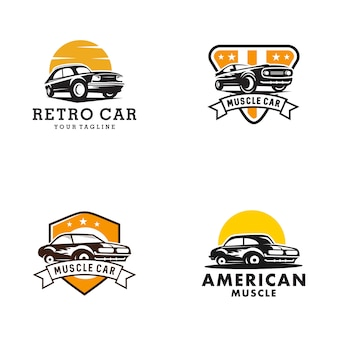 Oldtimer-logo-vorlage