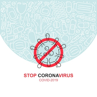 Olgo sign vorsicht coronavirus. abbildung stoppen sie das coronavirus
